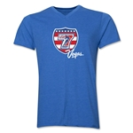USA Sevens Vegas Rugby V-Neck T-Shirt (Heather Royal)