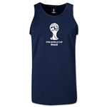 2014 FIFA World Cup Brazil(TM) Official Emblem Men's Tank Top (Navy)