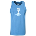 2014 FIFA World Cup Brazil(TM) Official Emblem Men's Tank Top (Sky Blue)