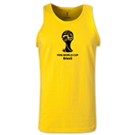 2014 FIFA World Cup Brazil(TM) Official Emblem Men's Tank Top (Yellow)