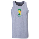 2014 FIFA World Cup Brazil(TM) Official Emblem Men's Tank Top (Dark Grey)