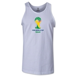 2014 FIFA World Cup Brazil(TM) Official Emblem Men's Tank Top (White)