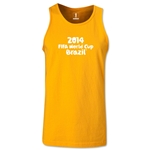 2014 FIFA World Cup Brazil(TM) Official Logotype Men's Tank Top (Gold)