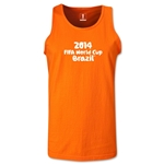 2014 FIFA World Cup Brazil(TM) Official Logotype Men's Tank Top (Orange)