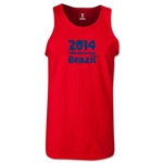2014 FIFA World Cup Brazil(TM) Official Logotype Men's Tank Top (Red)
