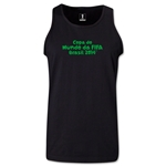 2014 FIFA World Cup Brazil(TM) Official Portuguese Logotype Men's Tank Top (Black)