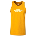 2014 FIFA World Cup Brazil(TM) Official Portuguese Logotype Men's Tank Top (Gold)