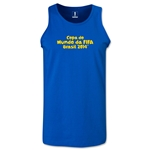2014 FIFA World Cup Brazil(TM) Official Portuguese Logotype Men's Tank Top (Royal)