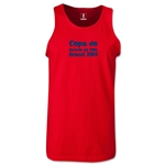 2014 FIFA World Cup Brazil(TM) Official Portuguese Logotype Men's Tank Top (Red)