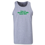 2014 FIFA World Cup Brazil(TM) Official Portuguese Logotype Men's Tank Top (Grey)