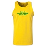 2014 FIFA World Cup Brazil(TM) Official Portuguese Logotype Men's Tank Top (Yellow)