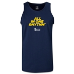 2014 FIFA World Cup Brazil(TM) All In One Rhythm Men's Tank Top (Navy)