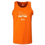 2014 FIFA World Cup Brazil(TM) All In One Rhythm Men's Tank Top (Orange)
