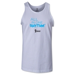 2014 FIFA World Cup Brazil(TM) All In One Rhythm Men's Tank Top (White)