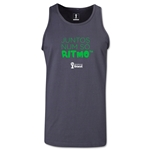 2014 FIFA World Cup Brazil(TM) All In One Rhythm Portuguese Men's Tank Top (Dark Grey)