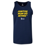 2014 FIFA World Cup Brazil(TM) All In One Rhythm Portuguese Men's Tank Top (Navy)