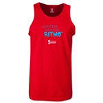 2014 FIFA World Cup Brazil(TM) All In One Rhythm Portuguese Men's Tank Top (Red)