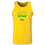 2014 FIFA World Cup Brazil(TM) All In One Rhythm Portuguese Men's Tank Top (Yellow)