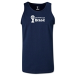 2014 FIFA World Cup Brazil(TM) Official Emblem Landscape Men's Tank Top (Navy)