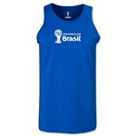 2014 FIFA World Cup Brazil(TM) Official Emblem Landscape Men's Tank Top (Royal)
