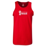 2014 FIFA World Cup Brazil(TM) Official Emblem Landscape Men's Tank Top (Red)