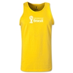 2014 FIFA World Cup Brazil(TM) Official Emblem Landscape Men's Tank Top (Yellow)