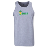 2014 FIFA World Cup Brazil(TM) Official Emblem Landscape Men's Tank Top (Grey)