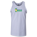 2014 FIFA World Cup Brazil(TM) Official Emblem Landscape Men's Tank Top (White)