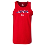 Japan 2014 FIFA World Cup Brazil(TM) Men's Palm Tank Top (Red)