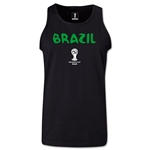 Brazil 2014 FIFA World Cup Brazil(TM) Men's Core Tank Top (Black)
