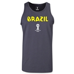 Brazil 2014 FIFA World Cup Brazil(TM) Men's Core Tank Top (Dark Grey)