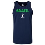 Brazil 2014 FIFA World Cup Brazil(TM) Men's Core Tank Top (Navy)