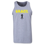 Brazil 2014 FIFA World Cup Brazil(TM) Men's Core Tank Top (Grey)