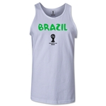 Brazil 2014 FIFA World Cup Brazil(TM) Men's Core Tank Top (White)