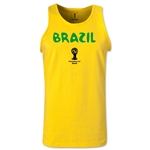 Brazil 2014 FIFA World Cup Brazil(TM) Men's Core Tank Top (Yellow)