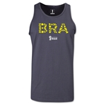 Brazil 2014 FIFA World Cup Brazil(TM) Men's Elements Tank Top (Dark Grey)