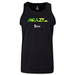Brazil 2014 FIFA World Cup Brazil(TM) Men's Palm Tank Top (Black)