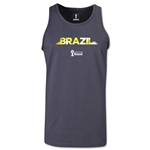 Brazil 2014 FIFA World Cup Brazil(TM) Men's Palm Tank Top (Dark Grey)