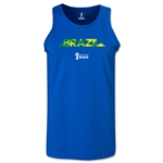 Brazil 2014 FIFA World Cup Brazil(TM) Men's Palm Tank Top (Royal)