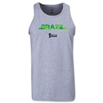 Brazil 2014 FIFA World Cup Brazil(TM) Men's Palm Tank Top (Grey)