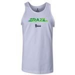 Brazil 2014 FIFA World Cup Brazil(TM) Men's Palm Tank Top (White)