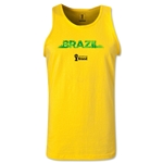 Brazil 2014 FIFA World Cup Brazil(TM) Men's Palm Tank Top (Yellow)