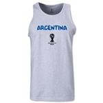 Argentina 2014 FIFA World Cup Brazil(TM) Men's Core Tank Top (Ash)