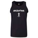 Argentina 2014 FIFA World Cup Brazil(TM) Men's Core Tank Top (Black)