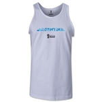 Argentina 2014 FIFA World Cup Brazil(TM) Men's Palm Tank Top (White)