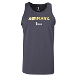 Germany 2014 FIFA World Cup Brazil(TM) Men's Palm Tank Top (Dark Grey)
