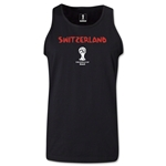 Switzerland 2014 FIFA World Cup Brazil(TM) Men's Core Tank Top (Black)