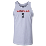 Switzerland 2014 FIFA World Cup Brazil(TM) Men's Core Tank Top (White)