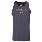 Switzerland 2014 FIFA World Cup Brazil(TM) Men's Elements Tank Top (Dark Grey)