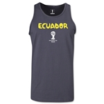 Ecuador 2014 FIFA World Cup Brazil(TM) Men's Core Tank Top (Dark Grey)